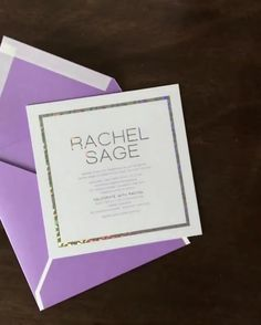 Modern and Unique Bat Mitzvah Invitation with Sparkly Holographic Foil by Penn & Paperie Unique Invitations, Modern Wedding Invitations, Invitation Design, Bar Mitzvah Invitations, Holographic Foil, Bat Mitzvah, Diy Paper, Special Day, Quinceanera
