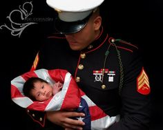 Marine Corps Baby. Would love to see variations for other branches. Military First, Military Love, Military Quotes, Newborn Pictures, Baby Pictures, Baby Photos, Marine Corps Baby, Really Cute Babies, Marine Love