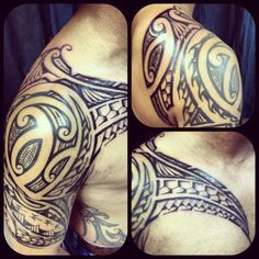 tatouage-epaule-pectoraux-homme-maori-polynesien-shoulder-tattoo