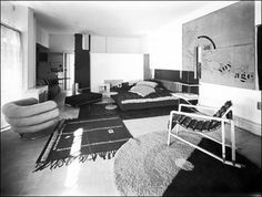 "Eileen Gray (Irish, 1878-1976) with Jean Badovici (Romanian, 1893-1956)   ""Villa E1027""   Roquebrune-cap-Martin, France   1924-1929  "
