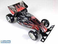 RC Scorpion Dirt Buggy 757-904 bis zu 16 km/h in rot-schwarz
