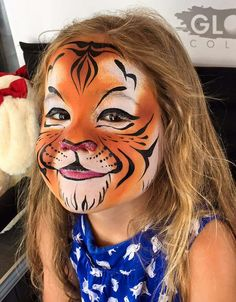 Tiger face painting                                                                                                                                                     More