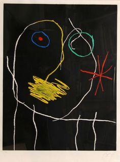 Joan Miro - 'Le Prophete la Nuit Year' - 1965 Medium: Etching…