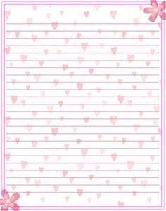 Girly Girl Stationary by MadameM Printable Lined Paper, Free Printable Stationery, Cute Stationery, Stationery Paper, Paper Journal, Lined Writing Paper, Card Patterns, Note Paper, Planner Pages