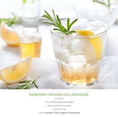 ... after a long week? Try this delicious rosemary gin lemonade. #Recipe