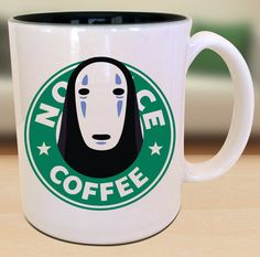 No-Face (Kaonashi)  X Spirted Away X Starbucks Anime Manga Gamer Geek Nerd Inspired Mug