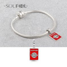 Passport Pendant Charm 925 Sterling Silver, Charms Fit All Brands Bracelets, Soufeel Jewelry , For Every Memorable Day!