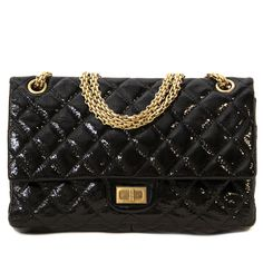 08a0e477cb9dd8 Labellov Chanel Black Patent Flap Shoulder Bag ○ Buy and Sell Authentic  Luxury