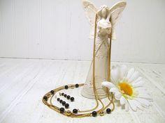Vintage Double Gold Tone Metal Herringbone Chain by DivineOrders