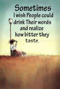 SOMTIMES I WISH PEOPLE