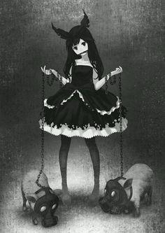Anime girl - démon