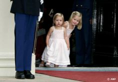 September 2007. Princess Amalia and Alexia.