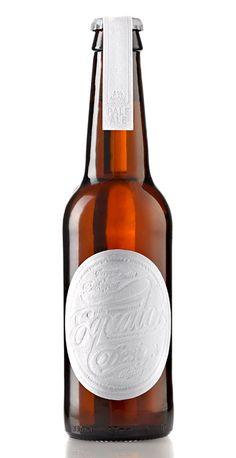 Equator Design's letterpress beer labels