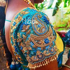 Magam Work Designs, Hand Designs, Bridal Blouse Designs, Work Blouse, Boho Shorts, Embroidery Designs, Captain Hat, Boutique, Blouses
