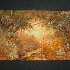 paintings original art landscape aceo ref 58 £4.00