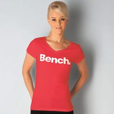 Bench Womens New Deck T-shirt Cheap Benches, Bench Clothing, New Deck, Graphic Tees, Label, V Neck, Hoodies, T Shirt, Jackets