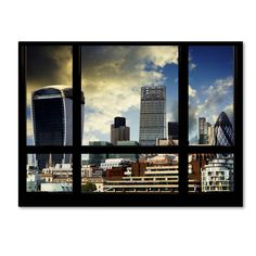 'Window View UK Buildings 2' by Philippe Hugonnard Photographic Print on Wrapped Canvas