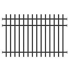 Master Halco Fence Panel 906232 48 In X 96 In Majestic 3 Rail Black