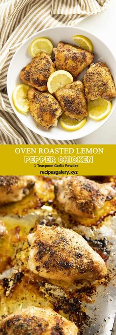 OVEN ROASTED LEMON PEPPER CHICKEN