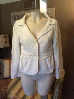 RED-Valentino-White-Cotton-Blend-Blazer-Jacket-Size-42-6