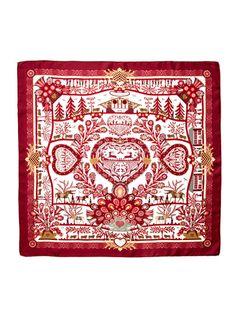 """""""Decoupages"""" Silk Twill Scarf 90cm by Hermès on Gilt.com"""