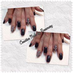 OPI Polish with nail art.