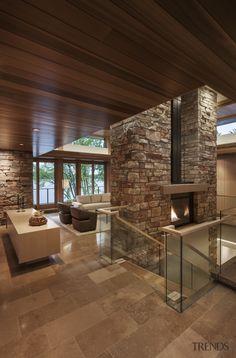 Industrial Home Design, Industrial House, Unique Flooring, Stone Flooring, Flooring Ideas, Concrete Wood, Concrete Design, Floor Design, House Design