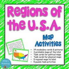 United States Region Brochure Project Social Studies Learning - Us map of regions