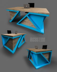Twists x Turns. One of a kind Modern Executive Desk. Office Table Design, Office Furniture Design, Furniture Buyers, Furniture Stores, Modern Executive Desk, Modern Desk, Industrial Furniture, Modern Furniture, Furniture Chairs
