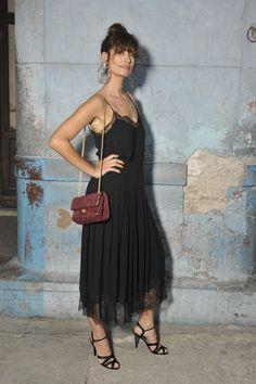 Caroline de Maigret au défilé Chanel croisière 2017 à Cuba