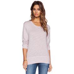 MONROW Crew Neck Sweatshirt Loungewear ($68) ❤ liked on Polyvore featuring tops, hoodies, sweatshirts, sweatshirts & hoodies, hooded pullover, pink crew neck sweatshirts, crewneck sweatshirt, pink hooded sweatshirt and sweatshirt hoodie