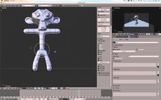 Bvh file to a simple monkey character in Blender 2.5