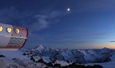 LEAPrus 3912: Living In A Fibreglass Tube On Mount Elbrus In Caucasus, Russia | http://www.yatzer.com/LEAPrus-3912-mount-elbrus-caucasus-russia photo by Luca Gentilcore, © LeapFactory.