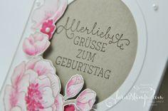 born2stamp STAMPIN' UP! Geburtstagskarte - Geburtstagsblumen - Glitzer-Pinselstift