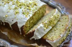 Pistachio Cardamom Pound Cake features a classic Middle Eastern flavor pairing --- it's an unusual and delicious cake perfect with coffee or tea.