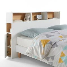 The headboard with storage, Biface. Contemporary inspiration for a functional headboard thanks. Diy Storage Headboard, Headboard Benches, Headboards For Beds, Bed Storage, Bedroom Storage, Storage Spaces, Boys Bedroom Furniture, Modern Home Furniture, Contemporary Headboards