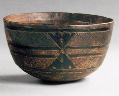 Bowl, Geometric Pattern, 19th–20th century; Fulani  Fulani people; Mali, western Sudan  Wood