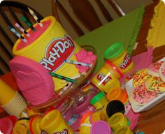 play doh b-day cake