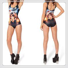 """Hot Sexy !  Bikini Set New 2014 Women Harry Potter Galaxy Swimsuit """"black milk style """" Swimwear Wholesale Free Shipping $23.98"""