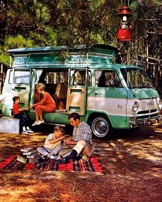 1968 Dodge A100 Van TEC Camp Wagon Camper Factory Photo c3032-FMANO5