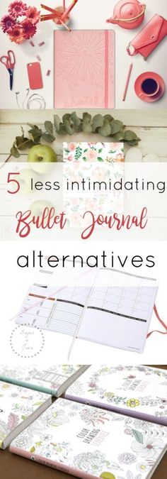 Best Bullet Journal Alternatives. Undated planners with goal setting pages, affirmation pages, weekly layouts, and monthly layouts.