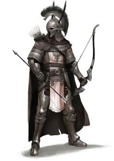 Archer - Seems to me the helmet and parts of the armor would interfere with aiming and firing especially if you were looking for speed and accuracy.