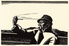 Illustration by Rockwell Kent for Herman Melville's Moby Dick. Published by Lakeside Press, 1930 Rockwell Kent, Norman Rockwell, Moby Dick, Captain Ahab, White Pen, Scratchboard, American Literature, Wood Engraving, American Artists
