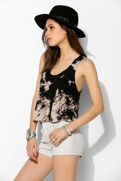 Staring At Stars Tech-Dye Terry Cloth Cropped Tank Top #urbanoutfitters