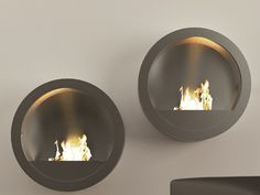 Bioethanol wall-mounted fireplace RONDO by MOMA Design by Archiplast