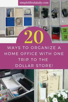 Organize your home office without spending too much. Try these dollar store organization ideas!