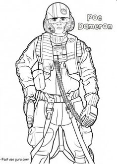 printable starwars the force awakens poedameron coloring pages for kidsfree