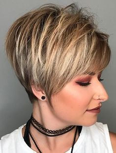 Today we have the most stylish 86 Cute Short Pixie Haircuts. Pixie haircut, of course, offers a lot of options for the hair of the ladies'… Continue Reading → Long Pixie Hairstyles, Haircuts For Fine Hair, Short Pixie Haircuts, Hairstyles Haircuts, Short Shaggy Bob, Shaggy Pixie Cuts, Short Stacked Haircuts, Short Hair With Bangs, Short Hair With Layers