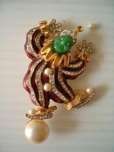 Vintage Hattie Carnegie Clown Pin