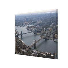 Brooklyn and Manhattan Bridge Photograph Canvas Print